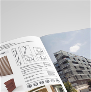 Catalog of louvers, adjustable shutters, adjustable louvres, brise soleil, shutters, aluminium and wooden blades